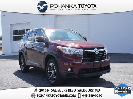 2016_Toyota_Highlander_XLE V6 CERTIFIED_ Salisbury MD