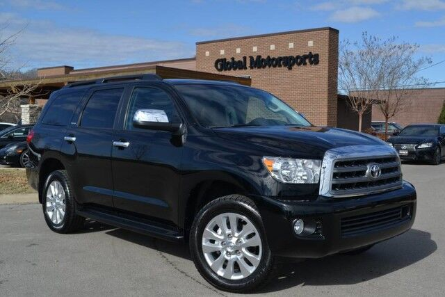 2016 Toyota Sequoia Platinum/4X4/Blind Spot/Rear DVD-Captains Chairs/Nav/Rear Cam/Htd-AC Seats/Pwr Fold 3rd Row/Loaded Nashville TN