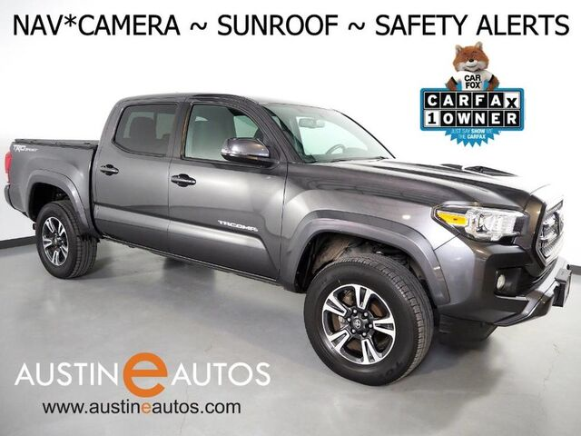 2016 Toyota Tacoma 2WD Double Cab TRD Sport *PREMIUM & TECH PKG, NAVIGATION, MOONROOF, BLIND SPOT ALERT, BACKUP-CAMERA, TOUCH SCREEN, HEATED SEATS, TOW PKG, BLUETOOTH Round Rock TX