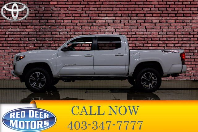 2016 Toyota Tacoma 4x4 Dbl Cab TRD Sport Manual Roof Bcam Red Deer AB
