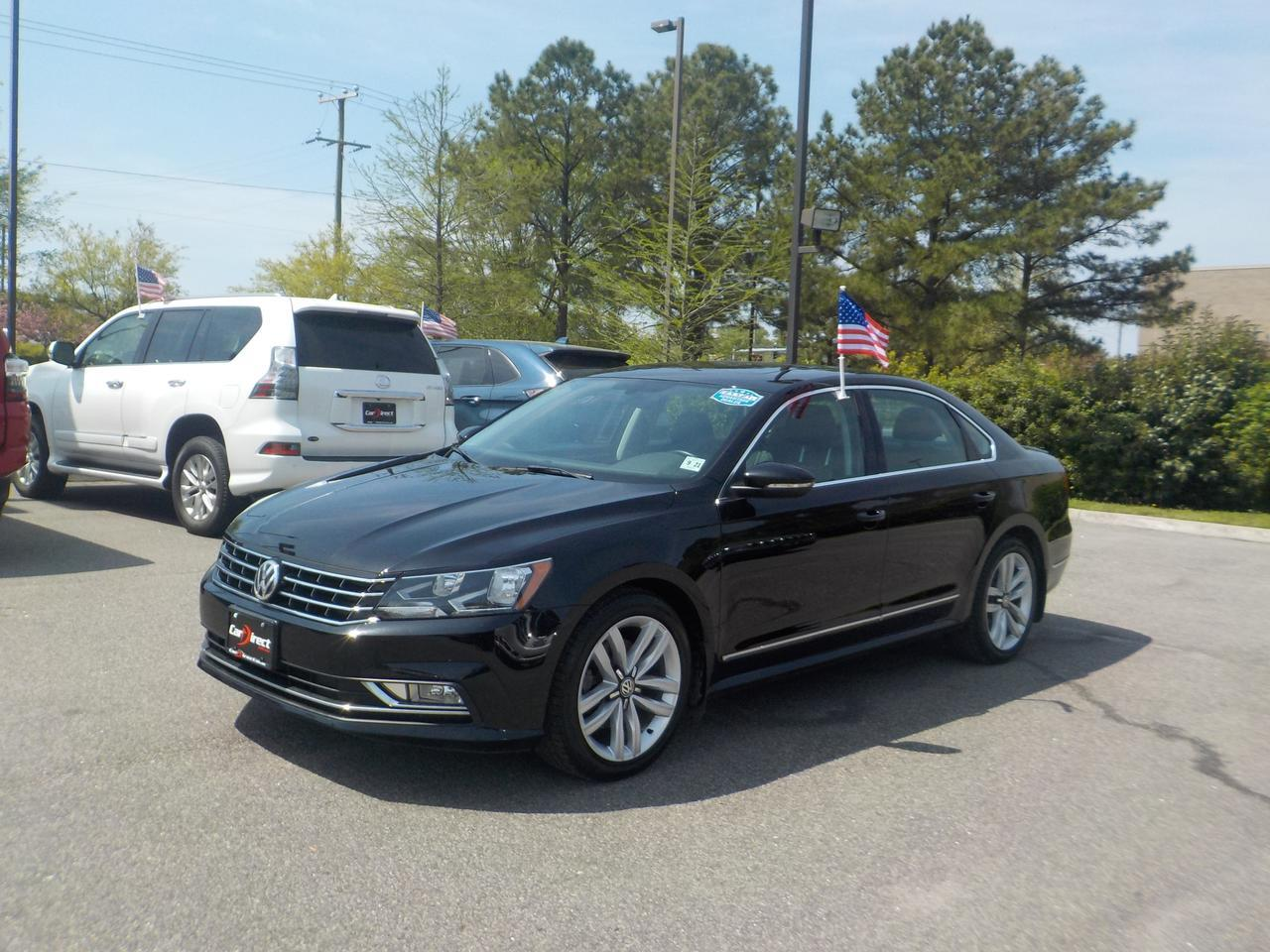 2016 VOLKSWAGEN PASSAT SEL TSI, ONE OWNER, SUNROOF, NAVIGATION, BLUETOOTH, HEATED LEATHER SEATS, ONLY 63K MILES!! Virginia Beach VA