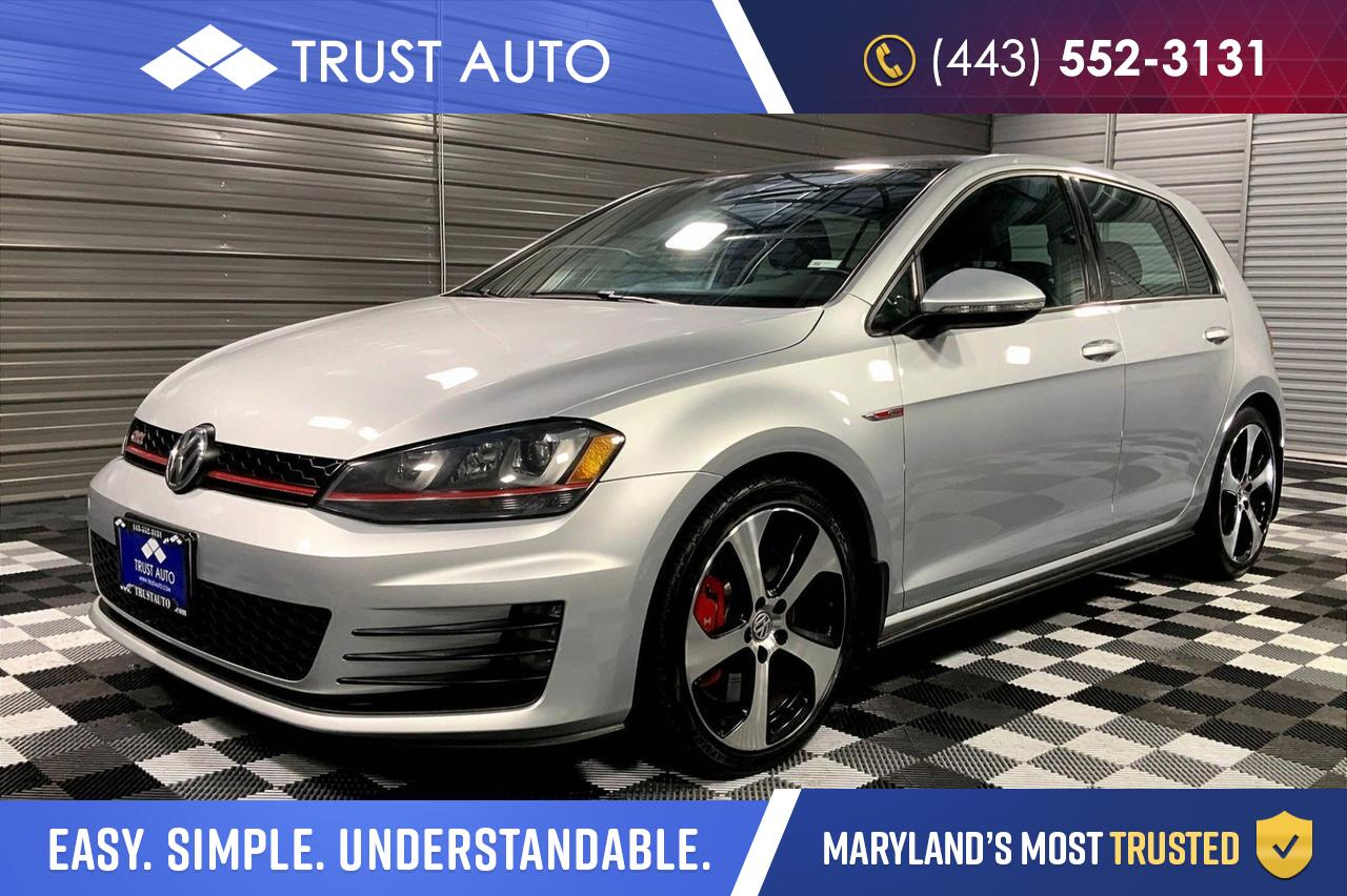 2016 Volkswagen Golf GTI 4-Door Hatchback SE w/Performance Pkg Sykesville MD