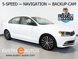 2016_Volkswagen_Jetta Sedan 1.8T Sport_*5-SPEED, NAVIGATION, BACKUP-CAMERA, TOUCH SCREEN, HEATED SEATS, USB/SAT RADIO, BLUETOOTH PHONE & AUDIO_ Round Rock TX