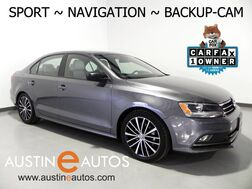 2016_Volkswagen_Jetta Sedan 1.8T Sport_*NAVIGATION, BACKUP-CAMERA, TOUCH SCREEN, HEATED SEATS, USB/SAT RADIO, BLUETOOTH PHONE & AUDIO_ Round Rock TX