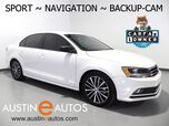 2016 Volkswagen Jetta Sedan 1.8T Sport *NAVIGATION, BACKUP-CAMERA, TOUCH SCREEN, HEATED SEATS, USB/SAT RADIO, BLUETOOTH PHONE & AUDIO