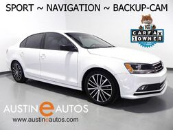 2016_Volkswagen_Jetta Sedan 1.8T Sport_*NAVIGATION, BACKUP-CAMERA, TOUCH SCREEN, HEATED SEATS, USB/SAT RADIO, BLUETOOTH_ Round Rock TX