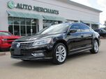 2016 Volkswagen Passat SEL Premium PZEV 6A LEATHER, SUNROOF, ADAPTIVE CRUISE, BLIND SPOT, UNDER FACTORY WARRANTY
