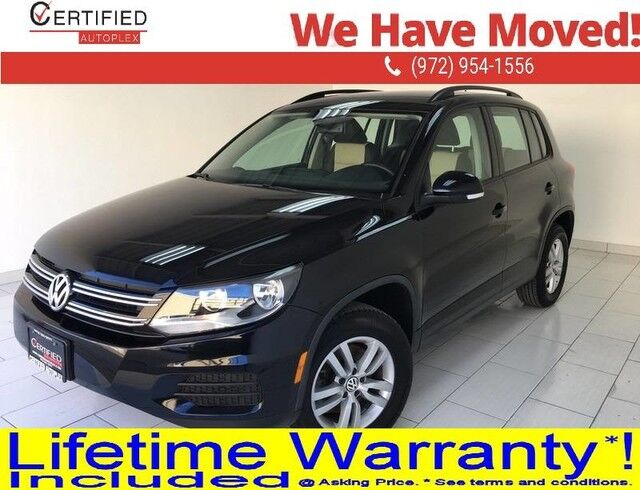 2016 Volkswagen Tiguan S HEATED LEATHER SEATS REAR CAMERA BLUETOOTH PUSH BUTTON START KEYLESS ENTR Dallas TX