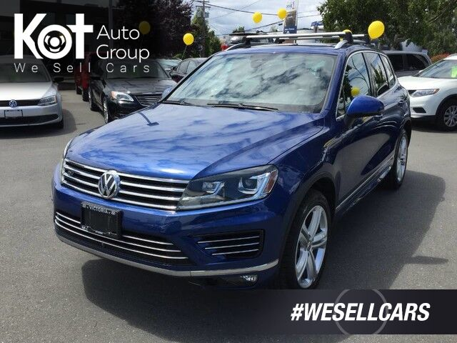 2016 Volkswagen Touareg Execline R-LINE Package Kelowna BC
