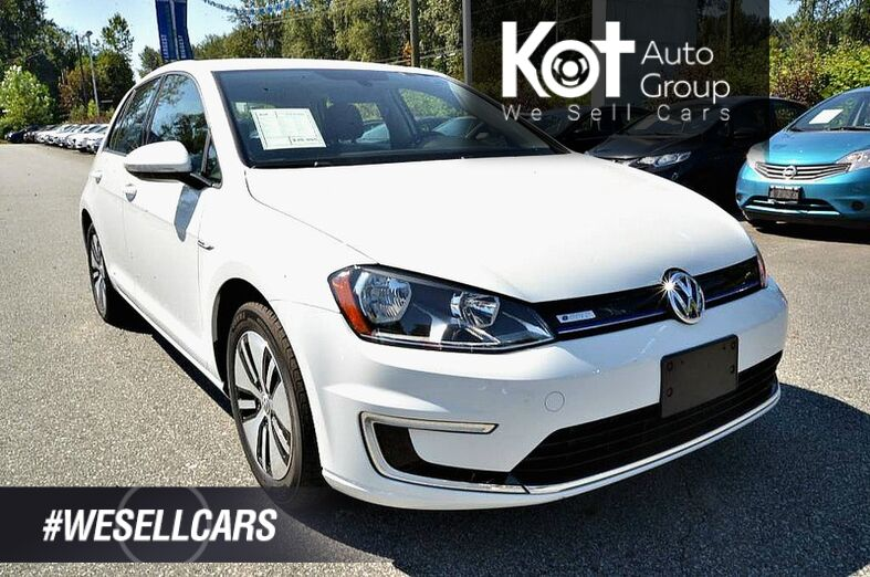 2016 Volkswagen e-Golf SE. Electric! Low KMS! No Accidents! Backup Cam! Kelowna BC