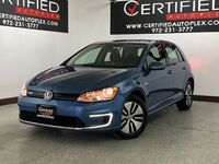 Volkswagen e-Golf SE REAR CAMERA HEATED SEATS SMART PHONE INTEGRATION KEYLESS ENTRY PUSH BUTT 2016