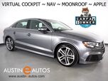 2017 Audi A3 Quattro 2.0T Premium Plus *VIRTUAL COCKPIT, NAVIGATION, SIDE ASSIST, BACKUP-CAMERA, BANG & OLUFSEN, OVERSIZED MOONROOF, LEATHER, HEATED SEATS, ADVANCED KEY, APPLE CARPLAY
