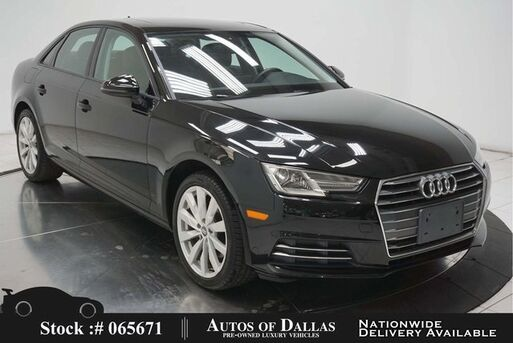 2017_Audi_A4_2.0T CAM,SUNROOF,HTD STS,18IN WLS,HID LIGHTS_ Plano TX