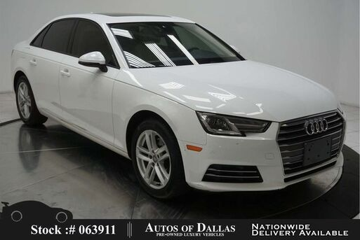 2017_Audi_A4_2.0T CAM,SUNROOF,KEY-GO,17IN WLS,HID LIGHTS_ Plano TX
