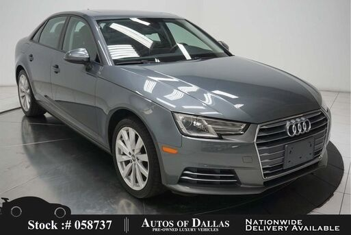 2017_Audi_A4_2.0T NAV,CAM,SUNROOF,HTD STS,18IN WHLS_ Plano TX