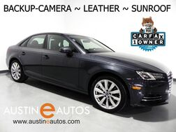 2017_Audi_A4 2.0T Premium_*BACKUP-CAMERA, MOONROOF, LEATHER, ADVANCED KEY, 18 INCH ALLOYS, BLUETOOTH PHONE & AUDIO_ Round Rock TX
