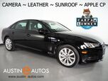 2017 Audi A4 2.0T Premium *BACKUP-CAMERA, MOONROOF, LEATHER, ADVANCED KEY, HEATED SEATS, 18 INCH ALLOYS, PARKING SYSTEM PLUS, BLUETOOTH, APPLE CARPLAY