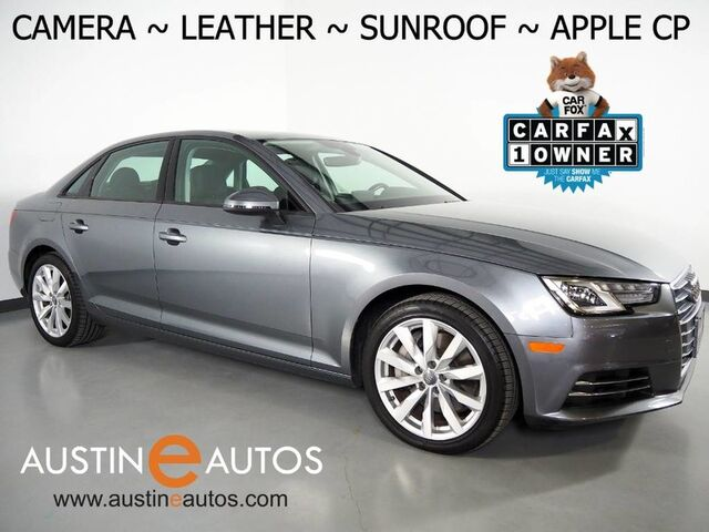2017 Audi A4 2.0T Premium *BACKUP-CAMERA, MOONROOF, LEATHER, ADVANCED KEY, HEATED SEATS, 18 INCH ALLOYS, PARKING SYSTEM PLUS, BLUETOOTH, APPLE CARPLAY Round Rock TX
