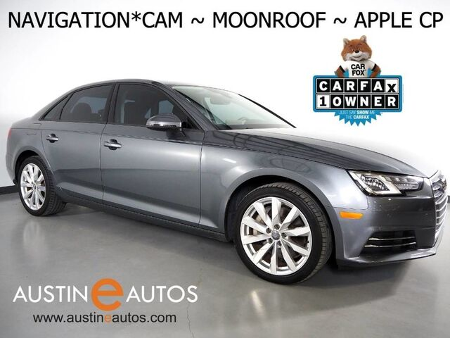 2017 Audi A4 2.0T Premium *NAVIGATION, BACKUP-CAMERA, MOONROOF, LEATHER, ADVANCED KEY, HEATED SEATS, PARKING SYSTEM PLUS, BLUETOOTH, APPLE CARPLAY Round Rock TX