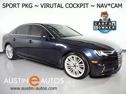 2017_Audi_A4 2.0T Premium Plus_*VIRTUAL COCKPIT, SPORT PKG, NAVIGATION, SIDE ASSIST, BACKUP-CAM, BANG & OLUFSEN, LEATHER, MOONROOF, ADVANCED KEY, HEATED SEATS, BLUETOOTH_ Round Rock TX