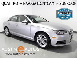 2017_Audi_A4 2.0T Quattro Premium_*NAVIGATION, BACKUP-CAMERA, MOONROOF, LEATHER, ADVANCED KEY, HEATED SEATS, BLUETOOTH AUDIO_ Round Rock TX
