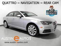 2017_Audi_A4 2.0T Quattro Premium_*NAVIGATION, BACKUP-CAMERA, MOONROOF, LEATHER, ADVANCED KEY, HEATED SEATS, BLUETOOTH PHONE & AUDIO_ Round Rock TX