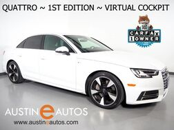 2017_Audi_A4 Quattro 2.0T Premium Plus_*VIRTUAL COCKPIT, 1ST EDITION PKG, SPORT PKG, NAVIGATION, SIDE ASSIST, BACKUP-CAMERA, CLIMATE SEATS, MOONROOF, BANG & OLUFSEN_ Round Rock TX