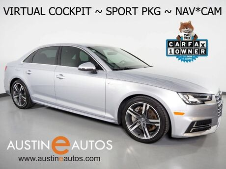 2017 Audi A4 Quattro 2.0T Premium Plus *VIRTUAL COCKPIT, SPORT PKG, NAVIGATION, SIDE ASSIST, BACKUP-CAMERA, MOONROOF, HEATED SEATS, ADVANCED KEY, BLUETOOTH, BANG & OLUFSEN Round Rock TX