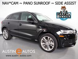 2017_Audi_Q3 2.0T Premium Plus_*NAVIGATION, SIDE ASSIST, BACKUP-CAMERA, PANORAMA MOONROOF, LEATHER, HEATED SEATS, ADVANCED KEY, 19 INCH WHEELS, BLUETOOTH_ Round Rock TX