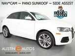 2017 Audi Q3 2.0T Premium Plus *NAVIGATION, SIDE ASSIST, BACKUP-CAMERA, PANORAMA MOONROOF, LEATHER, HEATED SEATS, ADVANCED KEY, 19 INCH WHEELS, BLUETOOTH