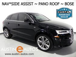2017_Audi_Q3 2.0T Prestige_*NAVIGATION, SIDE ASSIST, BACKUP-CAMERA, PANORAMA SUNROOF, POWER TAILGATE, ADVANCED KEY, HEATED SEATS, BOSE, BLUETOOTH PHONE & AUDIO_ Round Rock TX