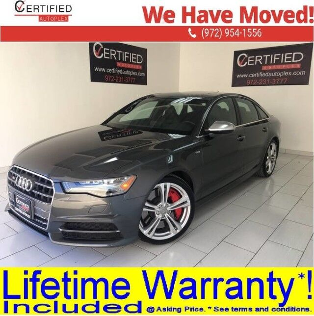 2017 Audi S6 4.0T V8 QUATTRO PREMIUM PLUS SPORT PKG LED HEADLIGHTS 20 WHEEL PKG BOSE SO Dallas TX