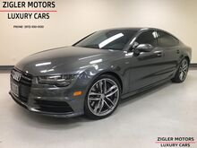 2017_Audi_S7_4.0T Quttro Black optic Pkg 20 5-Spoke wheel Carbon Twill Red inlays_ Addison TX