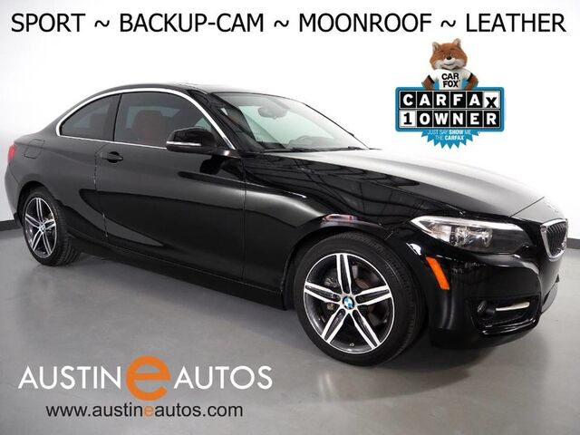 2017 BMW 2 Series 230i *SPORT LINE, BACKUP-CAMERA, MOONROOF, DAKOTA LEATHER, PARK DISTANCE CONTROL, COMFORT ACCESS, ALLOY WHEELS, BLUETOOTH PHONE & AUDIO Round Rock TX