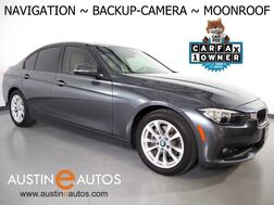 2017_BMW_3 Series 320i Sedan_*NAVIGATION, BACK-UP CAMERA, PARK DISTANCE CONTROL, MOONROOF, HEATED SEATS, STEERING WHEEL CONTROLS, ALLOY WHEELS, BLUETOOTH PHONE & AUDIO_ Round Rock TX