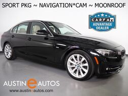 2017_BMW_3 Series 320i Sedan_*SPORT PKG, NAVIGATION, BACKUP-CAMERA, MOONROOF, HEATED SPORT SEATS, COMFORT ACCESS, 18 INCH WHEELS, BLUETOOTH PHONE & AUDIO_ Round Rock TX