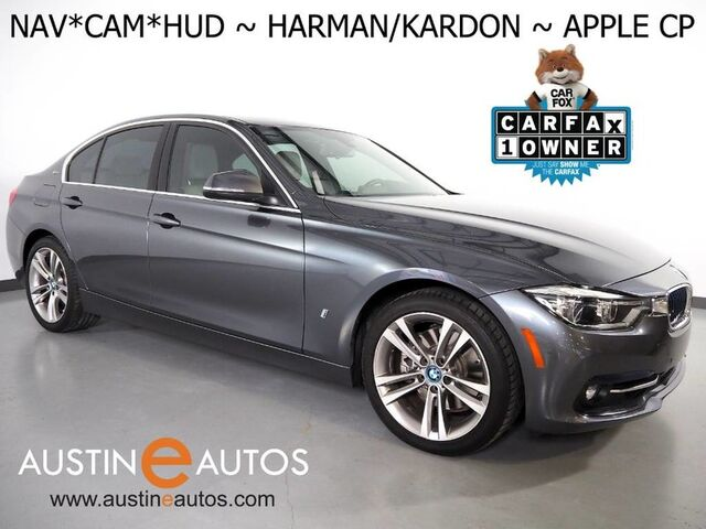 2017 BMW 3 Series 330e iPerformance Plug-In Hybrid *SPORT LINE, HEADS-UP DISPLAY, NAVIGATION, BACKUP-CAMERA, LEATHER, MOONROOF, HARMAN/KARDON, COMFORT ACCESS, BLUETOOTH, APPLE CARPLAY Round Rock TX