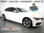 2017 BMW 3 Series 330e iPerformance Plug-In Hybrid *SPORT LINE, NAVIGATION, BACKUP-CAMERA, MOONROOF, HEATED SEATS, COMFORT ACCESS, 18 INCH WHEELS, BLUETOOTH, APPLE CARPLAY