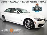 2017 BMW 3 Series 330e iPerformance Plug-In Hybrid *SPORT LINE, NAVIGATION, BLIND SPOT ALERT, DRIVING ASSISTANT, ADAPTIVE CRUISE, SIDE/TOP/REAR CAMERAS, LEATHER, HEATED SEATS, MOONROOF, APPLE CARPLAY
