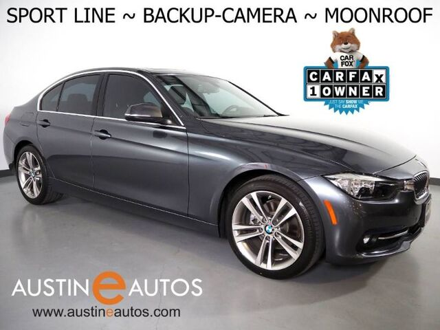 2017 BMW 3 Series 330i Sedan *SPORT LINE, BACKUP-CAMERA, MOONROOF, HEATED SPORT BUCKET SEATS, PARK DISTANCE CONTROL, 18 INCH WHEELS, BLUETOOTH PHONE & AUDIO Round Rock TX