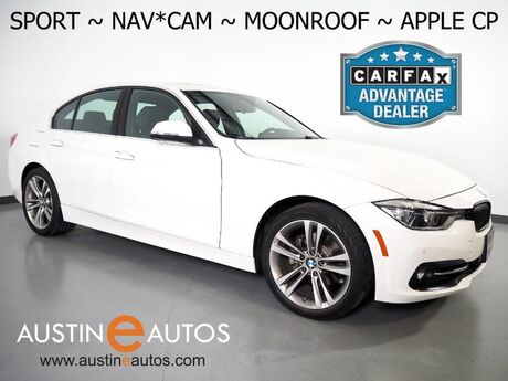 2017 BMW 3 Series 330i Sedan *SPORT LINE, NAVIGATION, BACKUP-CAMERA, MOONROOF, HEATED SEATS, COMFORT ACCESS, BLUETOOTH, APPLE CARPLAY Round Rock TX