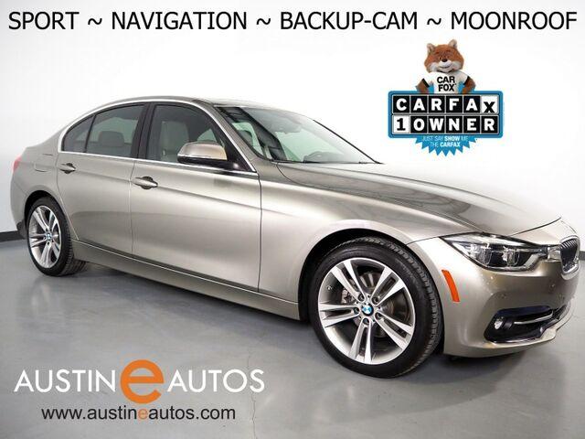 2017 BMW 3 Series 330i Sedan *SPORT LINE, NAVIGATION, BACKUP-CAMERA, MOONROOF, PARK DISTANCE CONTROL, DAKOTA LEATHER, HEATED SEATS, COMFORT ACCESS, BLUETOOTH Round Rock TX