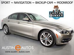 2017_BMW_3 Series 330i Sedan_*SPORT LINE, NAVIGATION, BACKUP-CAMERA, MOONROOF, PARK DISTANCE CONTROL, DAKOTA LEATHER, HEATED SEATS, COMFORT ACCESS, BLUETOOTH_ Round Rock TX