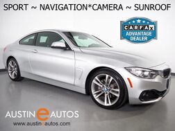 2017_BMW_4 Series 430i Coupe_*SPORT LINE, NAVIGATION, BACKUP-CAMERA, MOONROOF, HEATED FRONT BUCKET SEATS, ALLOY WHEELS, BLUETOOTH PHONE & AUDIO_ Round Rock TX