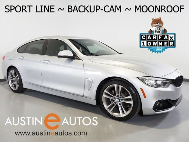 2017 BMW 4 Series 430i Gran Coupe *SPORT LINE, BACKUP-CAMERA, MOONROOF, DAKOTA LEATHER, COMFORT ACCESS, PARK DISTANCE CONTROL, BLUETOOTH PHONE Round Rock TX