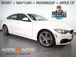 2017_BMW_4 Series 430i Gran Coupe_*SPORT LINE, NAVIGATION, BACKUP-CAMERA, MOONROOF, POWER TAILGATE, HEATED SEATS, 19 INCH ALLOYS, BLUETOOTH, APPLE CARPLAY_ Round Rock TX