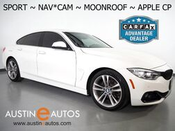 2017_BMW_4 Series 430i Gran Coupe_*SPORT LINE, NAVIGATION, BACKUP-CAMERA, MOONROOF, POWER TAILGATE, HEATED SEATS, BLUETOOTH PHONE & AUDIO, APPLE CARPLAY_ Round Rock TX