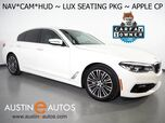 2017 BMW 5 Series 530i *HEADS-UP DISPLAY, NAVIGATION, LUXURY SEATING PKG, NAPPA LEATHER, BACKUP-CAMERA, MOONROOF, HARMAN/KARDON, LIGHTING PKG, APPLE CARPLAY