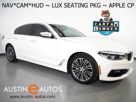 2017 BMW 5 Series 530i *HEADS-UP DISPLAY, NAVIGATION, LUXURY SEATING PKG, NAPPA LEATHER, BACKUP-CAMERA, MOONROOF, HARMAN/KARDON, LIGHTING PKG, APPLE CARPLAY Round Rock TX