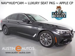 2017_BMW_5 Series 530i_*HEADS-UP DISPLAY, NAVIGATION, SURROUND CAMERAS, DRIVING ASSISTANT, PARKING ASSISTANT, MOONROOF, NAPPA LEATHER, LUXURY SEATING PKG, APPLE CARPLAY_ Round Rock TX
